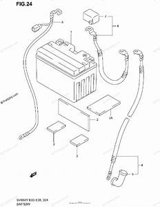 Suzuki Motorcycle 2002 Oem Parts Diagram For Battery