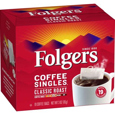 Folgers coffee singles (19 per box) 4.6 out of 5 stars162. Folgers® Classic Roast® Coffee Singles - SmartLabel™