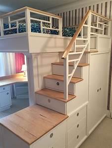 Hochbett Mit Zwei Betten : hochbett mit treppe und schreibtisch lounge sofa lounge sofa pinterest hochbetten ~ Whattoseeinmadrid.com Haus und Dekorationen