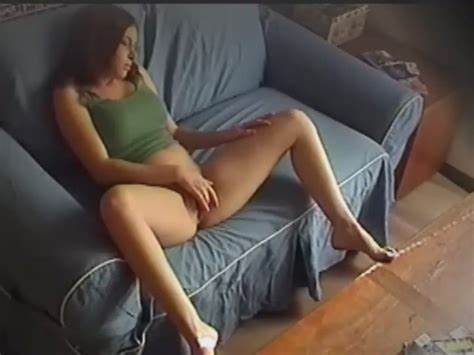Nunky Caught On Security Camera Pleasuring Herself