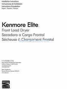 Kenmore 41791100002 Installation Instructions Manual Pdf