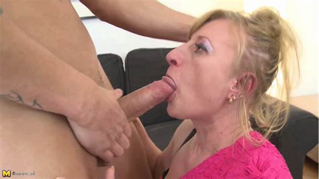 #Blonde #Mom #Janet #Receives #Mouth