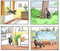 Get Grundschule Bildergeschichte Katze Background