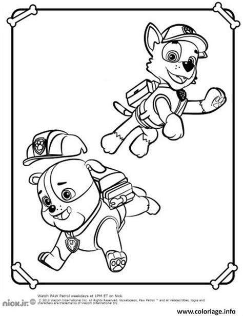 Coloriage Ruben Et Rocky Pat Patrouille dessin