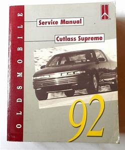 1992 Oldsmobile Cutlass Supreme Service Manual Gm