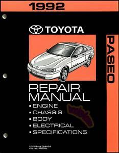 Shop Manual Paseo Service Repair 1992 Toyota Book Haynes