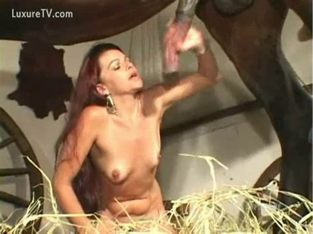 #Slutty #Redhead #Bonks #This #Horse #Penis #And #Sucks #Until #It