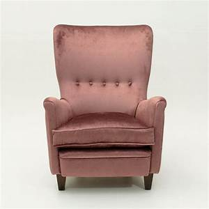 Fauteuil Velours Rose : fauteuil en velours rose italie 1950s en vente sur pamono ~ Teatrodelosmanantiales.com Idées de Décoration