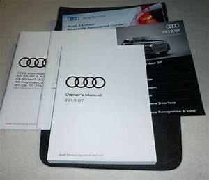 2019 Audi Q7 Owners Manual Set 19 Q 7 Guide W  Case 2 0t 3