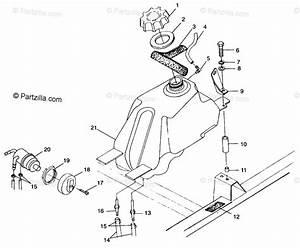 Polaris Atv 1999 Oem Parts Diagram For Fuel Tank