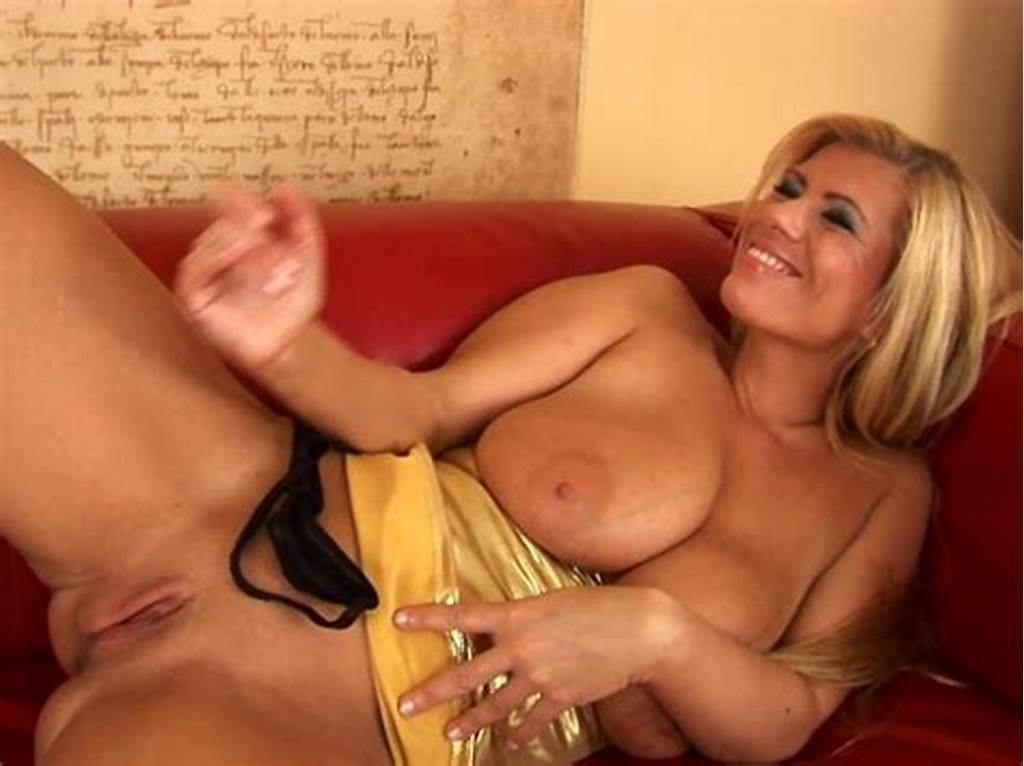 #Lovely #Milf #Adele #With #Gold #Dildo