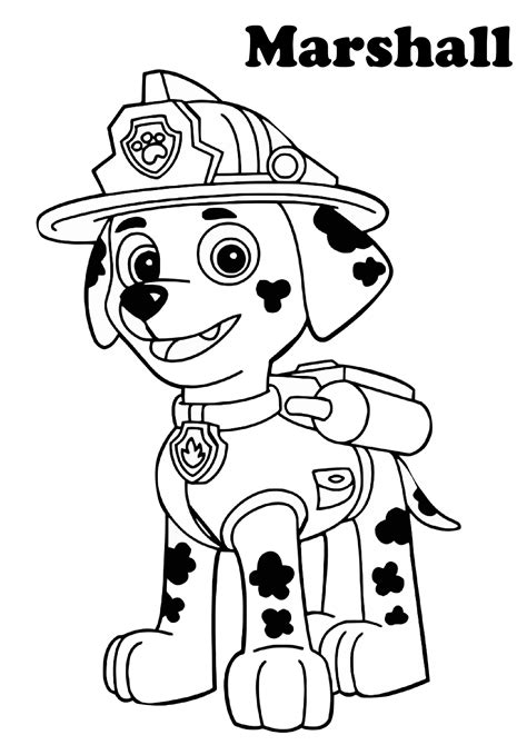 Paw Patrol Printable Coloring Pages for Kids (2020