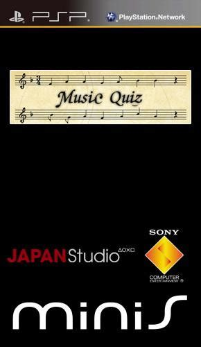 Could you be a songwriter? Music Quiz (USA) PSP ISO - CDRomance