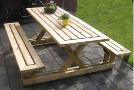 Make Outdoor Wood Table by 20 Free Picnic Table Plans Enjoy Outdoor Meals With Friends Family Ho