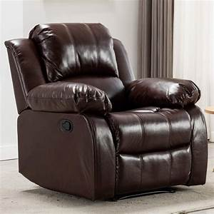 Bonzy Home Overstuffed Recliner Leather Heavy Duty Manual