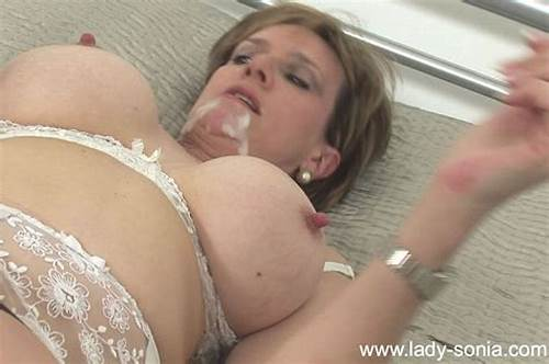Sultry English Milf Banged In Her Pussy #British #Milf #Lady #Sonia #Gets #Cumload #On #Tits