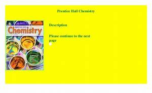 Prentice Hall Chemistry   Read  P D F
