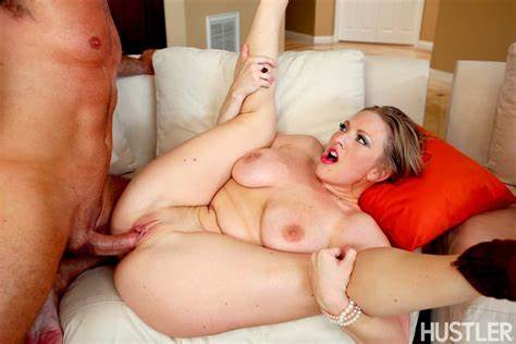 Blond Housewife Drilled On The Porn Couch