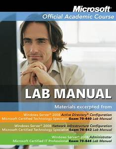Microsoft Official Academic Course Lab Manual Windows