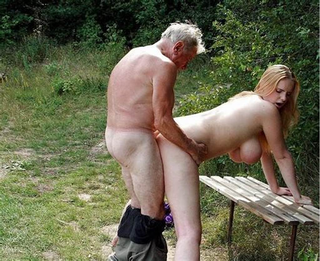 #Grandpa #Fucks #His #Busty #Granddaughter #In #His #Garden #A #Old