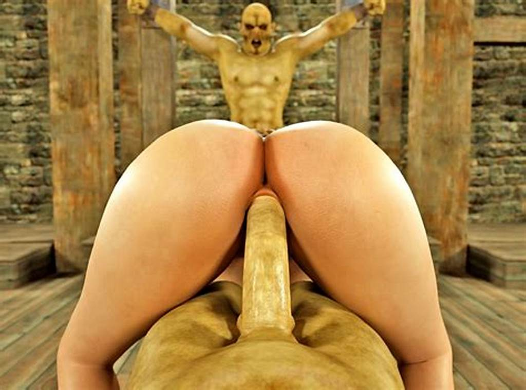 #Busty #Pale #3D #Whore #Gets #Impaled #On #A #Huge #Orc #Dong