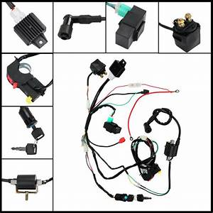 Wiring Harness Loom Solenoid Coil Rectifier Cdi0 70 90cc