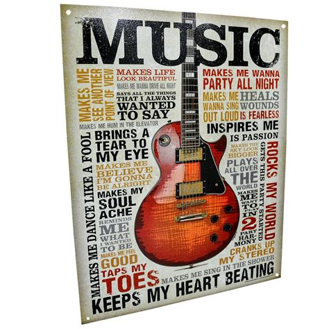 Music Inspires Me Sign   Agri Supply 89207