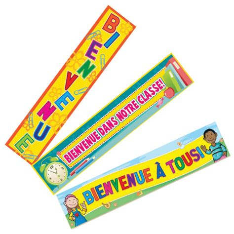 Classroom Banner | Bienvenue French Welcome Banners. Free ...