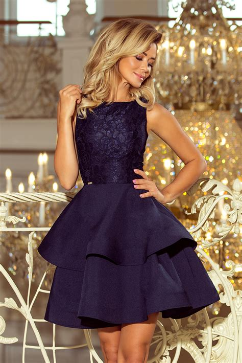 foto de Pidulik kleit tumesinine N8205 3 Kleidid Pidulikud