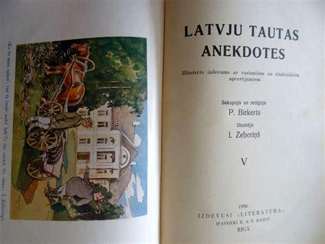 Lote Nr. 390 - Latviešu tautas anekdotes 1 un 2 sējums. Sakopojis P. Birkerts, ilūstrējis I ...