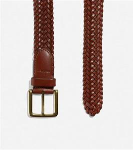 Men 39 S Braided 35mm Belt In British Tan Leather Cole Haan