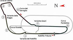 Track Map Of The Grand Prix Circuit At Autodromo Nazionale