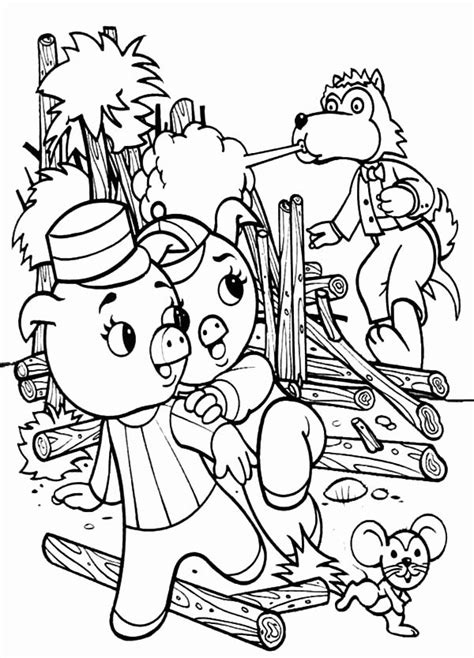 Three Little Pigs Coloring Page Elegant the Three Little
