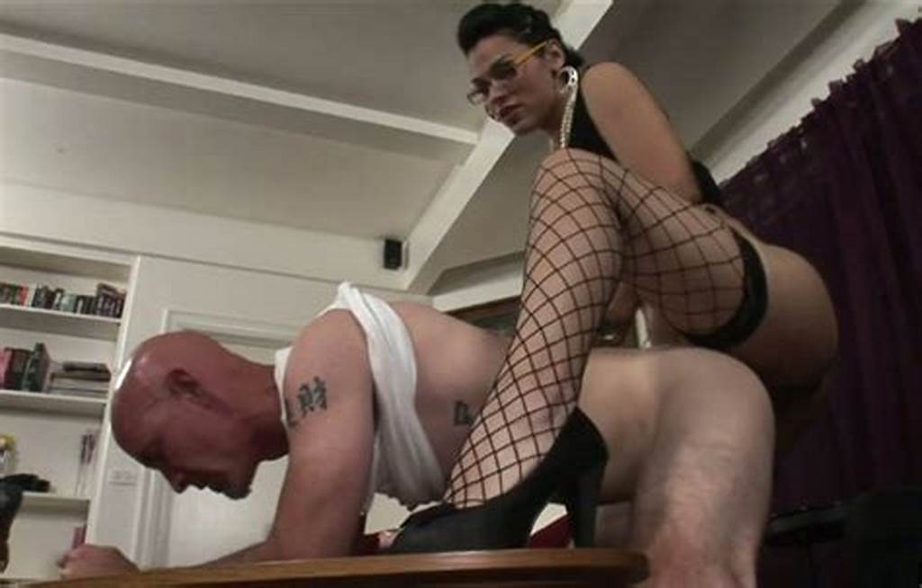 #Bald #Dude #Smith #Gets #His #Ass #Hole #Drilled #By #Sassy #Tranny
