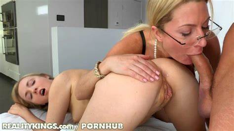 Milf Dp D By Stepdaughter And Old With Strapon