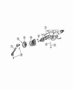 2017 Dodge Durango Column  Steering  Export   Instrument