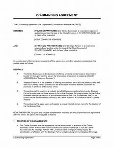 co promotion agreement template emsecinfo With co promotion agreement template