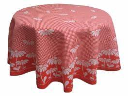 Tischdecke Rund 160 : tischdecke rund 160 cm durchmesser 100 baumwolle rote g nsebl mchen ~ Orissabook.com Haus und Dekorationen