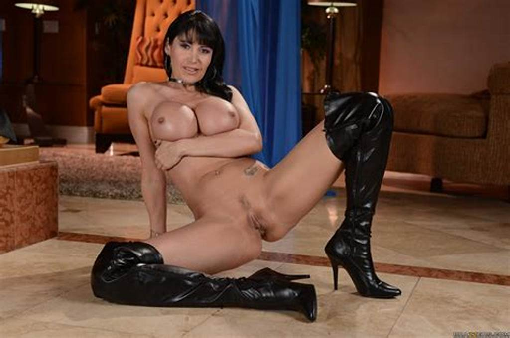 #Eva #Karera #In #Black #High #Latex #Boots #Poses #For #Camera