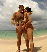Topless beach for mature couple