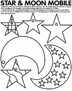 Star, And, Moon, Mobile, Coloring, Page