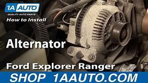 How To Install Replace Alternator Ford Explorer Ranger