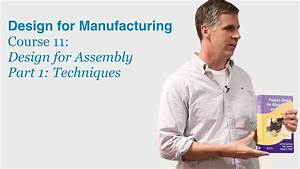 Design For Manufacturing Course 11 Part 1  Design For