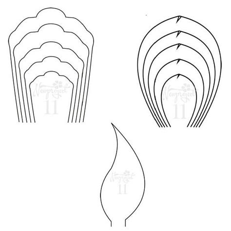 Set of 2 Flower Templates and 1 Leaf Template Giant