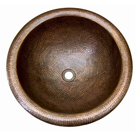 Maybe you would like to learn more about one of these? Barclay Hammered Antique Copper Copper Drop-In Round Bathroom Sink with Overflow Drain (16.87-in ...