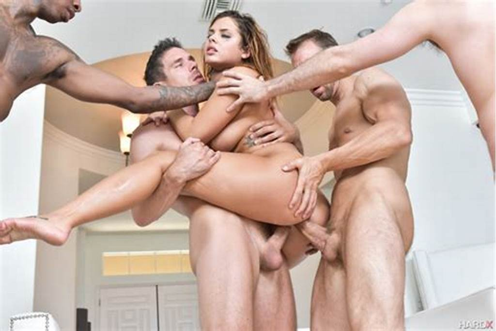 #Keisha #Grey #In #Her #First #Dp #& #First #Gangbang