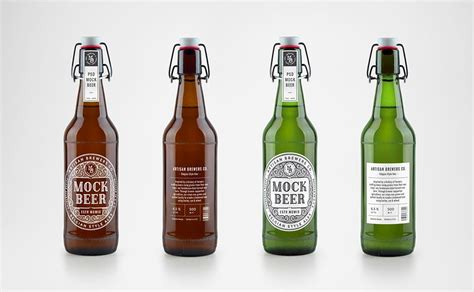 Best free packaging mockups from the trusted websites. Artisan Beer Bottle Mockup Free 2020 - JustMockup