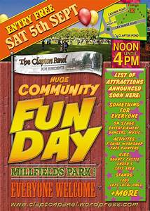 Fun Day Poster Template Huge Panel Fun Day On Sat 5th Sept Postscript Notes