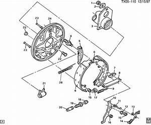 2000 Chevrolet Trailblazer Plate  Brake Flange  Backing