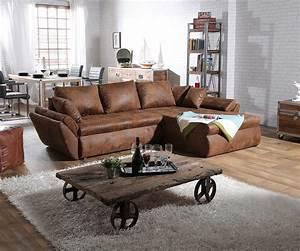 L Sofa Mit Schlaffunktion : couch loana braun 275x185 cm ecksofa schlaffunktion ~ A.2002-acura-tl-radio.info Haus und Dekorationen